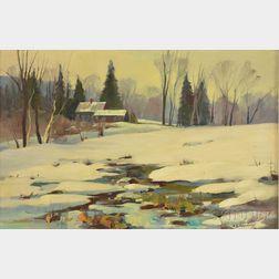 Stephen George Maniatty (American, 1910-1984)      Bement School Library, Deerfield