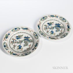 Pair of Famille Verte Dishes