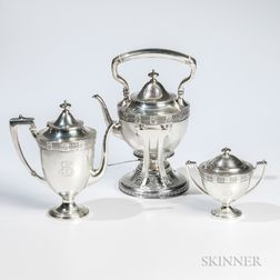 Three Pieces of a Whiting Sterling Silver Coffee Service