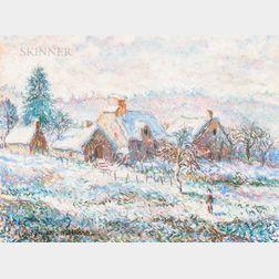 Paul-Émile Pissarro (French, 1884-1972)      Farmhouse in Winter