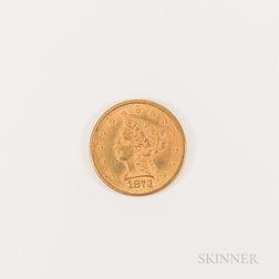 1873 $2.50 Liberty Head Gold Quarter Eagle