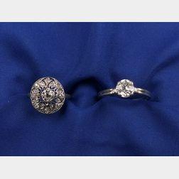 Two Platinum and Diamond Rings