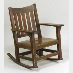 Arts & Crafts Mahogany Rocking Chair