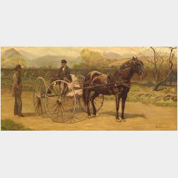 George Bacon Wood Jr. (American, 1832-1910)  Horse and Carriage Scene.