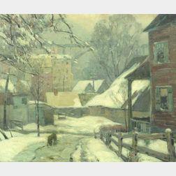John Fabian Carlson (Swedish/American, 1875-1945)  Derelicts, Kingston, New York