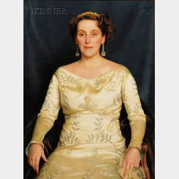 William McGregor Paxton (American, 1869-1941)      Mrs. Russell H. Leonard