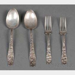 """Eleven Whiting Manufacturing Co. Sterling """"Berry"""" Pattern Flatware Items"""