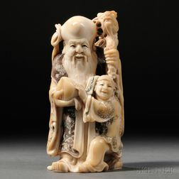 Ivory Carving of Shoulao