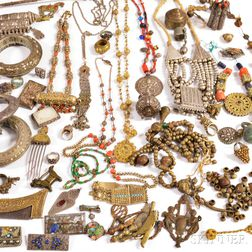 Group of International Silver, Gilt, and Metal Jewelry and Accessories