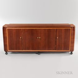 Art Deco Hardwood Sideboard