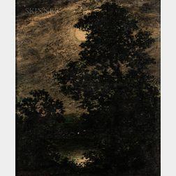Ralph Albert Blakelock (American, 1847-1919)      Moonlight