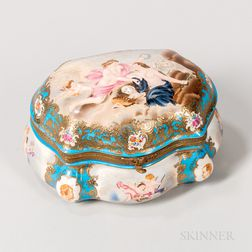 Metal-mounted Porcelain Box and Cover