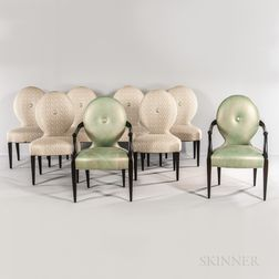 Two Donghia Armchairs and Six Side Chairs