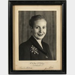Perón, Juan (1895-1974) and María Eva Duarte de Perón (1919-1952) Signed Photographs.