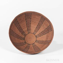 Panamint Polychrome Basketry Bowl