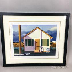 Framed Modern Artist's Proof Architectural Print