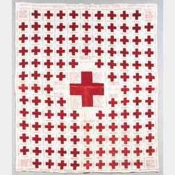 "Red Cross ""Honor Roll"" Fund-raising Quilt"