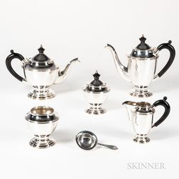 Wallace Silversmiths Five-piece Sterling Silver Coffee and Tea Service