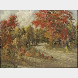 W. Francis Snow (American, 19th/20th Century)  Autumn Colors