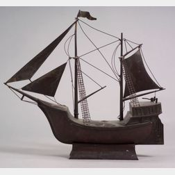Copper Sailing Vessel Model
