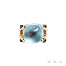"""18kt Gold, Blue Topaz, and Iolite """"Candy"""" Ring, Verdura"""