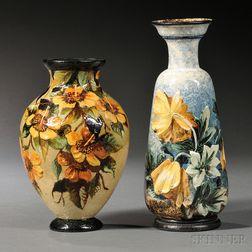Two Doulton Impasto Vases
