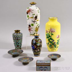 Eight Assorted Asian Cloisonne Items