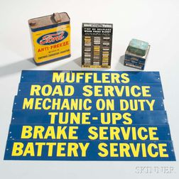 Five Automobilia Items