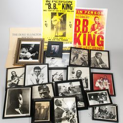 Framed Images of Jazz and Blues Musicians
