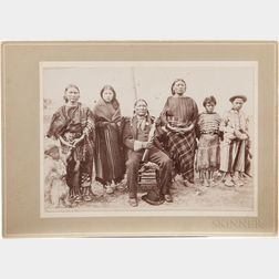Cabinet Card Photo of Chief Humming Bird and Family