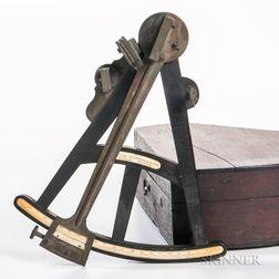 H. Duren 10-inch Ebony Octant