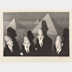 Grant Wood (American, 1891-1942)      Shriner's Quartet