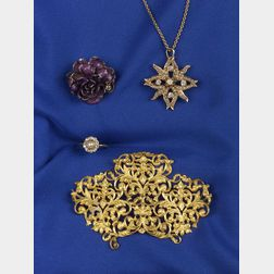 Four 14kt Gold Jewelry Items