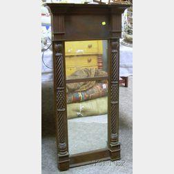 Classical Carved Mahogany and Mahogany Veneer Tabernacle Mirror