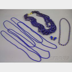 Group of Lapis Jewelry Items