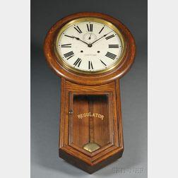 """Waterbury Clock Company Thirty-day """"Admiral"""" Regulator"""