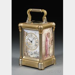 Tiffany Porcelain Hour Repeating Carriage Clock