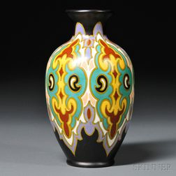 Zuid Holland Gouda Damascus Pottery Vase