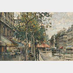 Constantine Kluge (French, 1912-2003)      Boulevard St. Michel