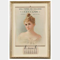 1897 Advertising Wall Calendar