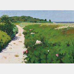 Hillary Osborn (American, b. 1965)      Beach Path (West Falmouth)