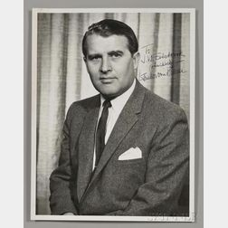 Von Braun, Wernher (1912-1977) Signed Photograph.
