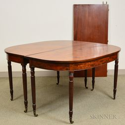 Federal Mahogany Banquet Table