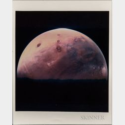 Viking 1, Mars, Ten Photographs, One Photograph of Mars's Moon, Deimos, 1976-1977.