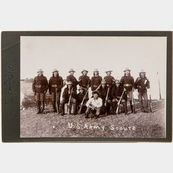 Cabinet Card Photo of Cheyenne U.S. Army Scouts