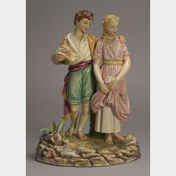 Royal Worcester Porcelain Figure Group