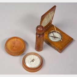 Three Fruitwood Pocket Dials
