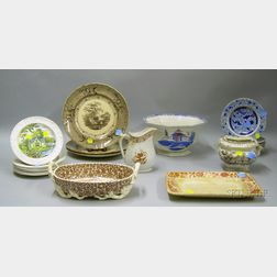 Twenty-one Pieces of Assorted Staffordshire Tableware