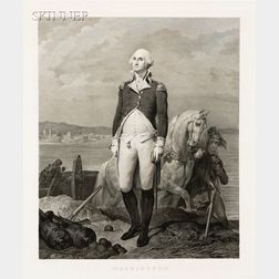 Jean Nicolas Laugier (French, 1785-1875), After Leon Cogniet (French, 1794-1880) and Gilbert Stuart (Ameri...