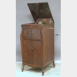 Victor Talking Machine Co. Victrola Carved Mahogany Floor Standing Record Player